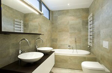 Natuursteen keramische badkamer